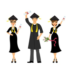 Happy graduation vector image
