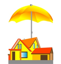 house under the umbrella vector image