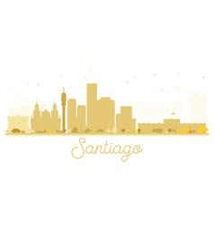 Santiago City skyline golden silhouette vector image vector image