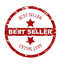 best seller stamp seal with star vector image