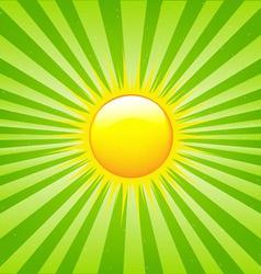 bright sunburst vector image