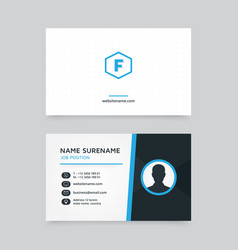 creative business card design with profile icon vector image