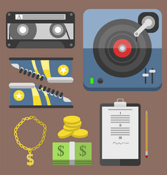 hip hop accessory musician with microphone vector image