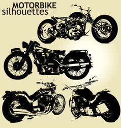 motorbike silhouettes vector image vector image