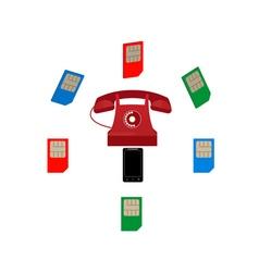 Phone and sim card vector