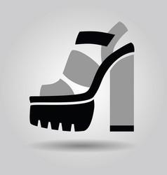 single women platform solid high heel shoe icon vector image vector image
