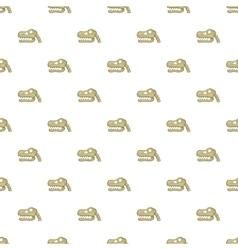 Skull of dinosaur pattern cartoon style vector image