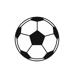 Soccer ball icon simple style vector image vector image