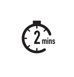 2 minutes timer stopwatch or countdown icon time vector