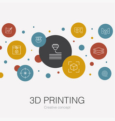 3d printing trendy circle template with simple vector