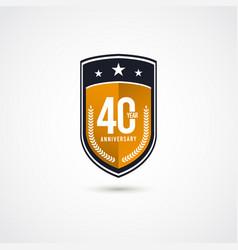 40 years anniversary celebration label logo vector