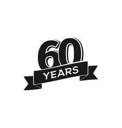 60 years anniversary logotype isolated vector image