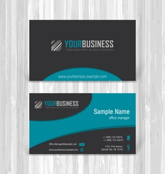 Abstract creative business cards vector