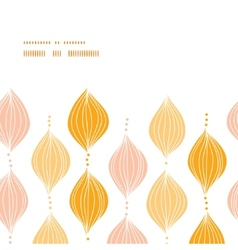 abstract golden ogee horizontal frame seamless vector image