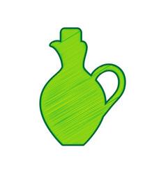 amphora sign lemon scribble vector image vector image