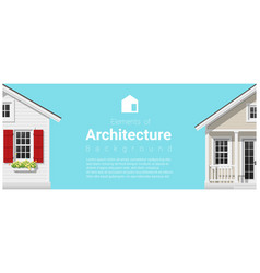 architecture background with a small houses vector image