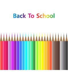 back to school color pencil object equipment vector image