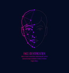 biometric identifier of a person face vector image