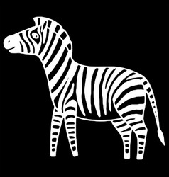 black and white zebra vector image