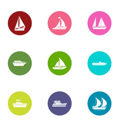 Blank icons set flat style vector