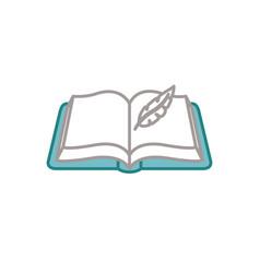 Book fantasy line fill style vector