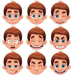 Boy Expressions vector