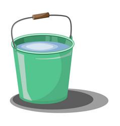 bucket water for garden design element vector image
