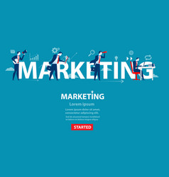 businessman of marketing concept business banner vector image