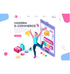buyer e-commerce interface banner vector image