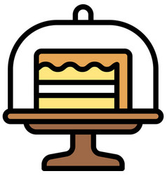 Cake on cake stand icon bakery and baking related vector
