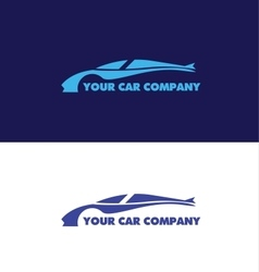 Car shape logo design vector image vector image