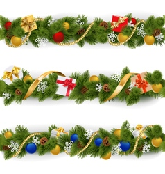 Christmas Border Set 5 vector
