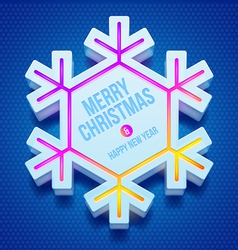 Christmas three-dimensional snowflake vector image