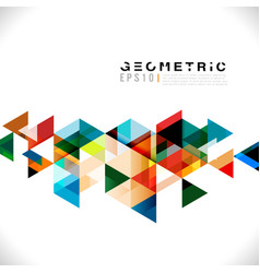 Colorful geometric modern template for business vector