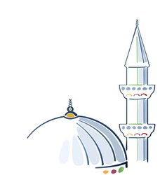Colorful mosque drawing vector