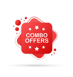 Combo offers banner design on white background vector