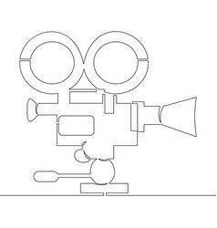 continuous line movie camera video recorder vector image
