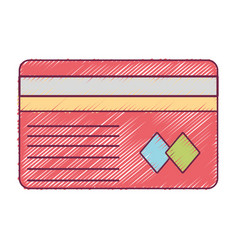 credit card to financial business vector image