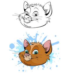 cute head of cat vector image