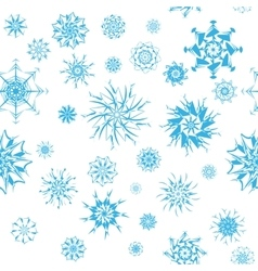 elegant blue snowflakes various styles isolated vector image