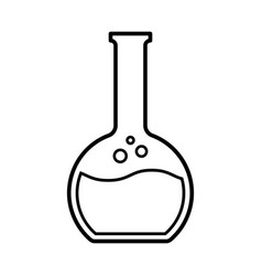 Flat bottomed flask icon vector