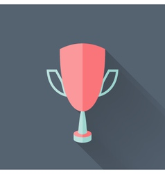Flat cup icon vector image