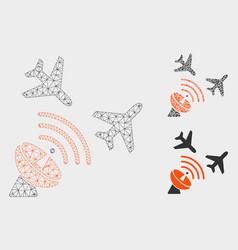 flight radar mesh 2d model and triangle vector image