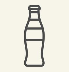 Glass bottle line icon soda in bottle vector