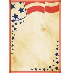 Grunge US vintage poster vector