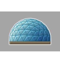 Icon geodesic dome flat vector image