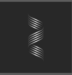 initial letter z logo feminine script modern vector image