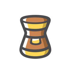 instant coffee jar icon cartoon vector image