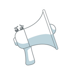 kawaii megaphone announce audio volume voice vector image