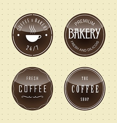 Label set for restaurant and cafe vector
